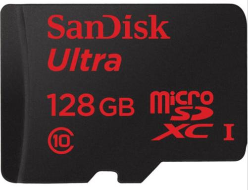 Sandisk Ultra microSDXC 128GB UHS-I Class 10 ( up to 80MB/s) Memory Card with SD
