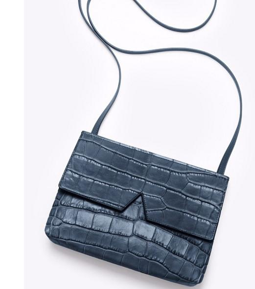 $119.23 Vince 'Small' Croc Embossed Leather Crossbody Bag On Sale @ Nordstrom