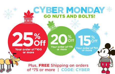 Up To 50% Off + Extra 25% Off Cyber Monday Sale @ Disney Store