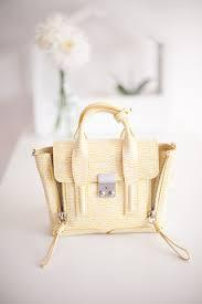 3.1 Phillip Lim Pashli Mini Leather Satchel Bag, Ivory/Mimosa @ Neiman Marcus