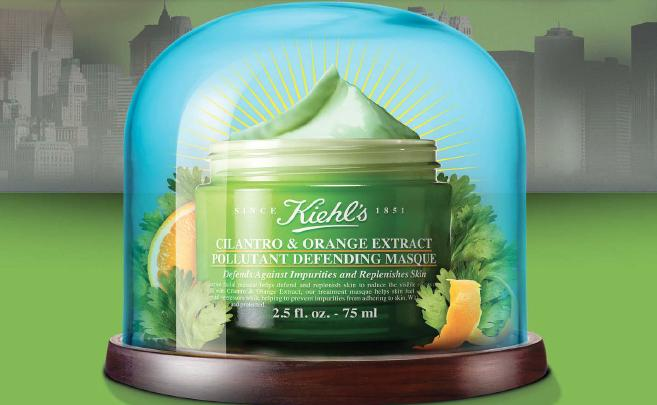 New Release Kiehl's launched New Cilantro & Orange Extract Pollutant Defending Masque