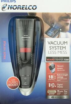 Philips Norelco BeardTrimmer 7300, vacuum trimmer with adjustable length settings QT4070/41