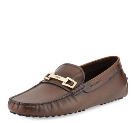 Tod's Burnished Bit Strap Loafer, Brown @ Neiman Marcus