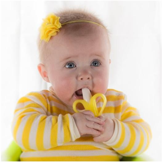 Baby Banana Bendable Training Toothbrush, Infant