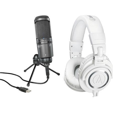 Audio-Technica AT2020USB+ USB Microphone W/A/T ATH-M50x Hp