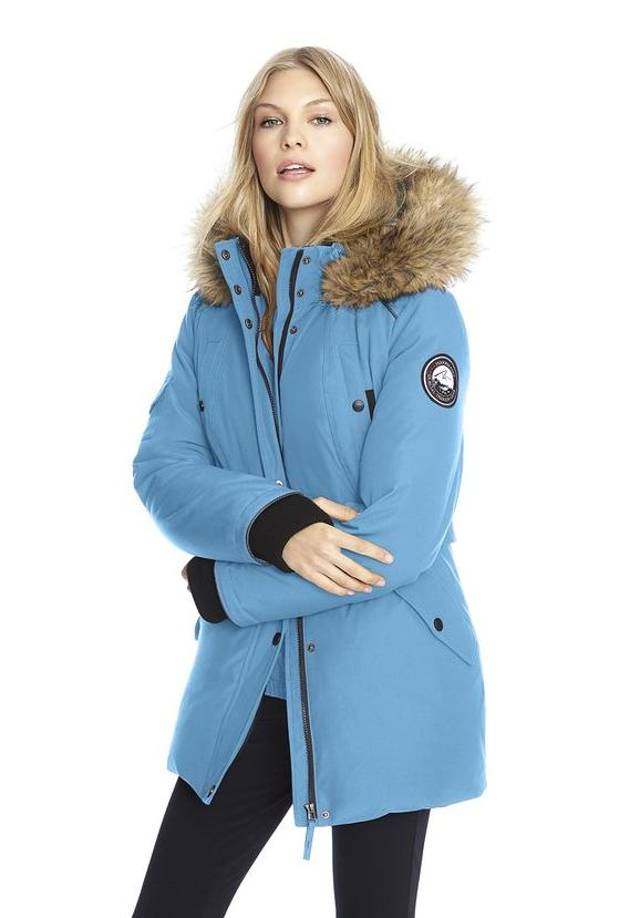 Alpinetek® Women's Baby Blue Mid-Length Down Parka