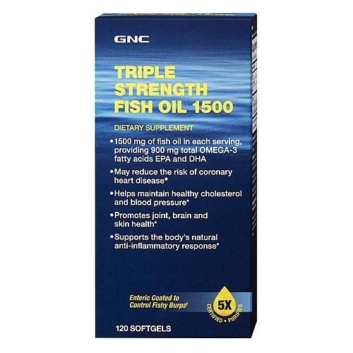 2 for $29.98 GNC Triple Strength Fish Oil 1500 120 softgels