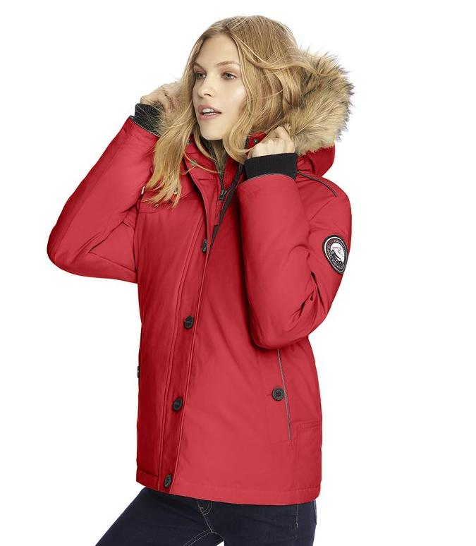 Alpinetek® Women's Short Down Bomber Parka Coat