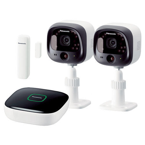 Panasonic DIY Indoor/Outdoor Home Surveillance Camera Kit with Window/Door Sensor