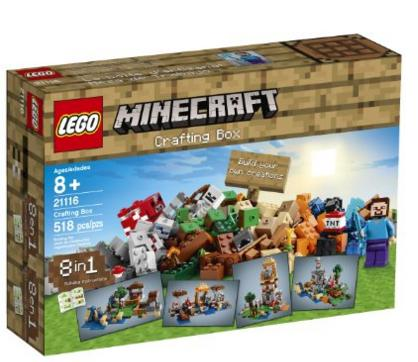 $40.99 LEGO Minecraft 21116 Crafting Box