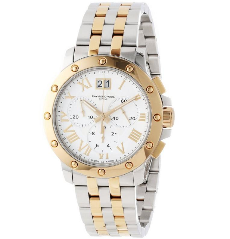 Raymond Weil Men's 4899-STP-00308 Tango Gold and Steel White Chronograph Watch