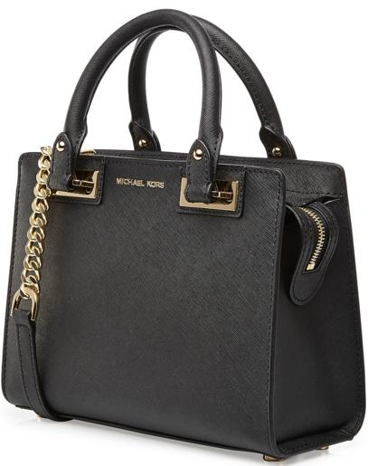 Quinn Small Patent Saffiano Leather Satchel @ Michael Kors