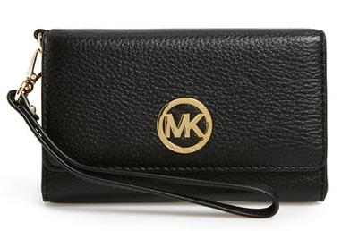 MICHAEL Michael Kors 'Large Fulton' Leather Wristlet @ Nordstrom