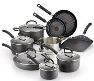 T-fal E918SE Ultimate Hard Anodized Durable Nonstick Cookware Set, 14-Piece