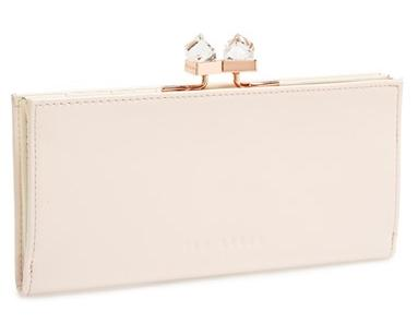 Ted Baker London 'Crystal Popper' Patent Leather Matinee Wallet