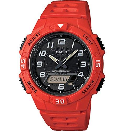 Casio Men's AQ-S800W-4BVCF Solar-Power Red Resin Watch