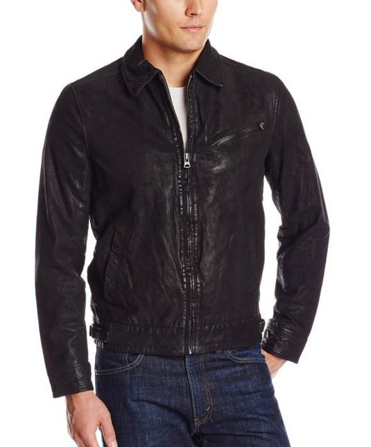 Levi's Men's Zip-Front Leather Jacket