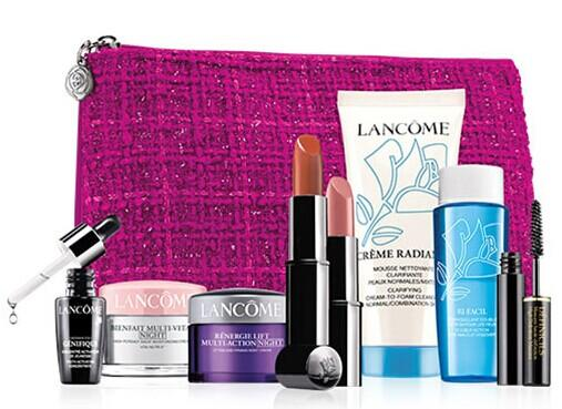 $39.5 + Free 7 Piece Gift Lancome Paris Presents Skincare Essentials Set with any Lancome Purchase @ Dillard's