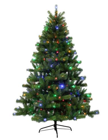 Holiday Living 6.5-ft Pre-Lit Seneca Pine Artificial Christmas Tree with Color Changing LED Lights