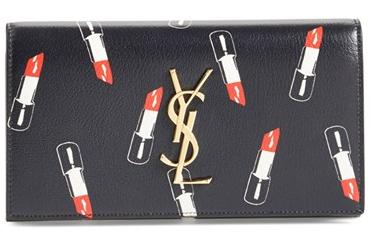 Saint Laurent 'Monogram Lipstick' Calfskin Leather Wallet @ Nordstrom
