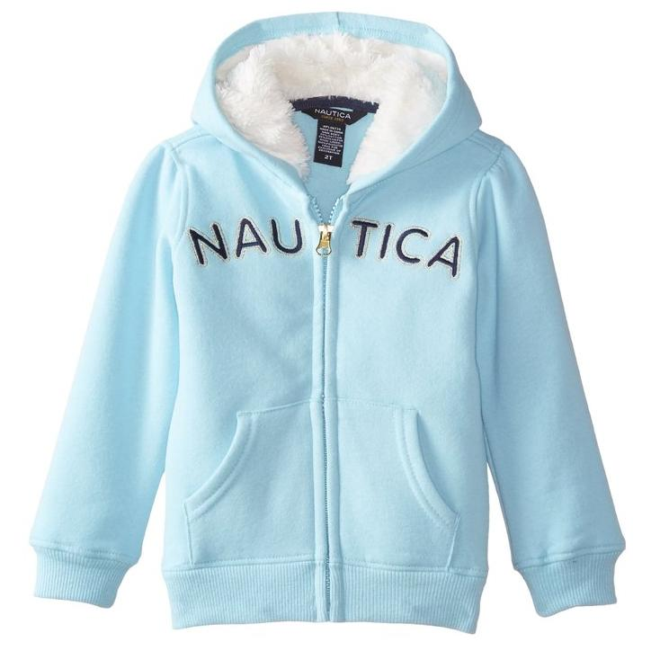 Nautica Little Girls' Signature Fleece with Eyelash Lining