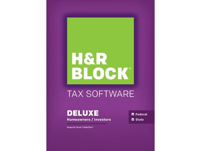 H&R BLOCK Tax Software Deluxe + State 2015