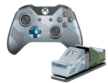 $69.99 Microsoft Xbox One Limited Edition Halo 5: Guardians Wireless Controller + Dual Charging Station