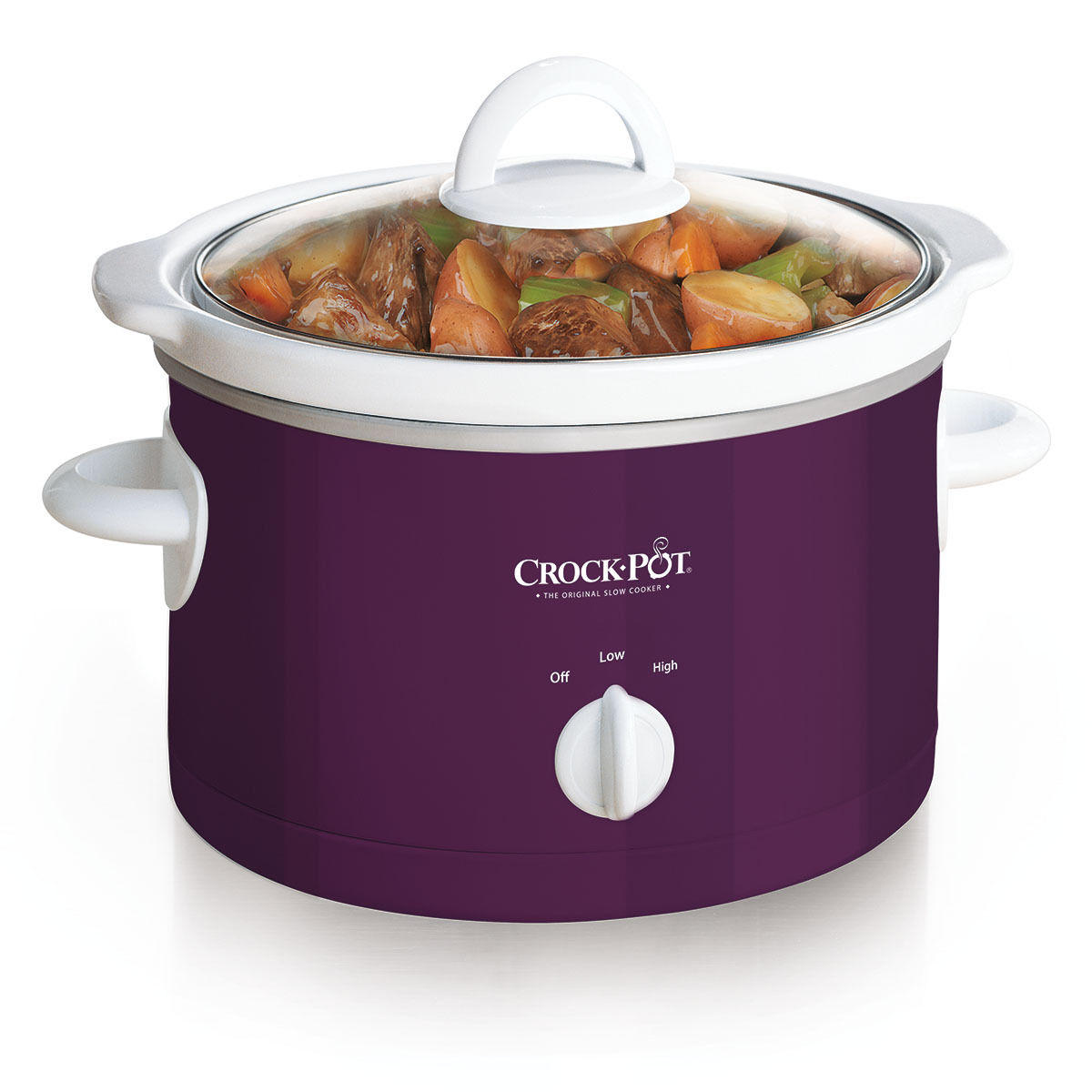 Crock-Pot 2.5-Quart Manual Slow Cooker, Purple SCR250P-MJ