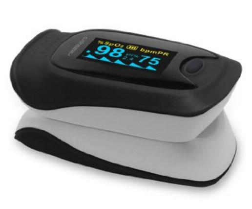 MeasuPro OX200 Instant Read Digital Pulse Oximeter with Carry Case and Lanyard CE, FDA Approved