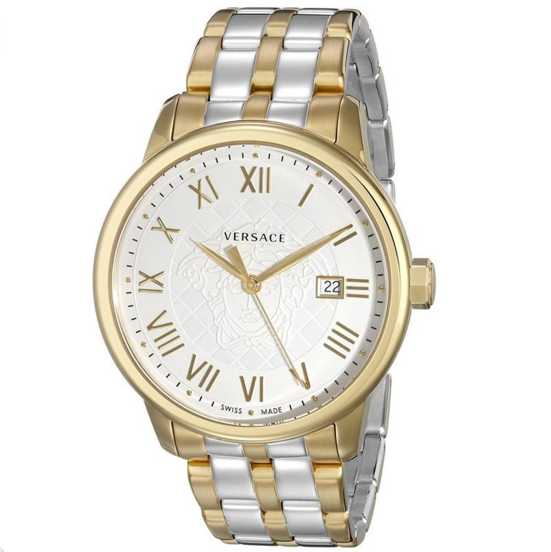 Lowest price! Versace Men's VQS050015 Business Analog Display Quartz Two Tone Watch