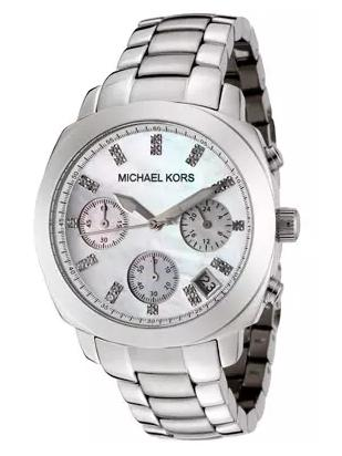 Michael Kors Women's Chronograph White Crystal Stainless Steel Watch MK5092