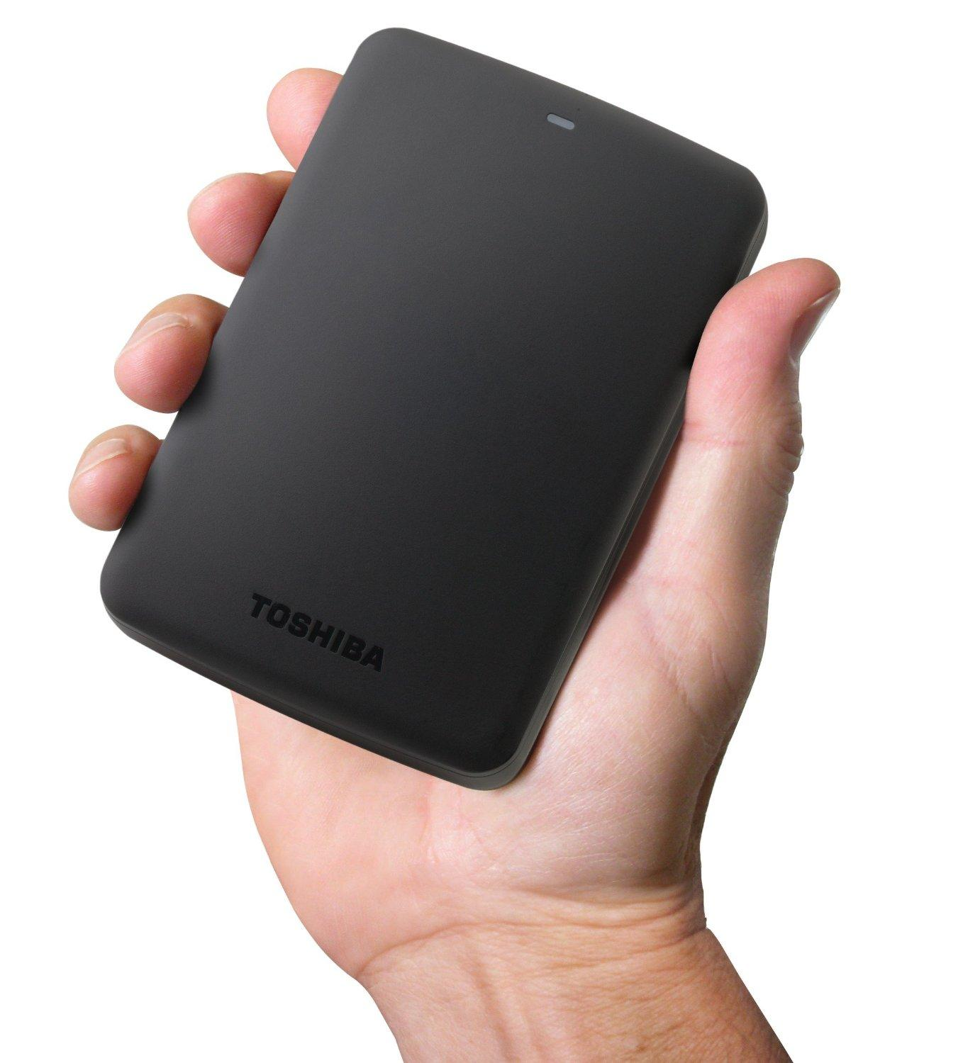Toshiba Canvio Basics 2TB Portable Hard Drive - Black (HDTB320XK3CA)
