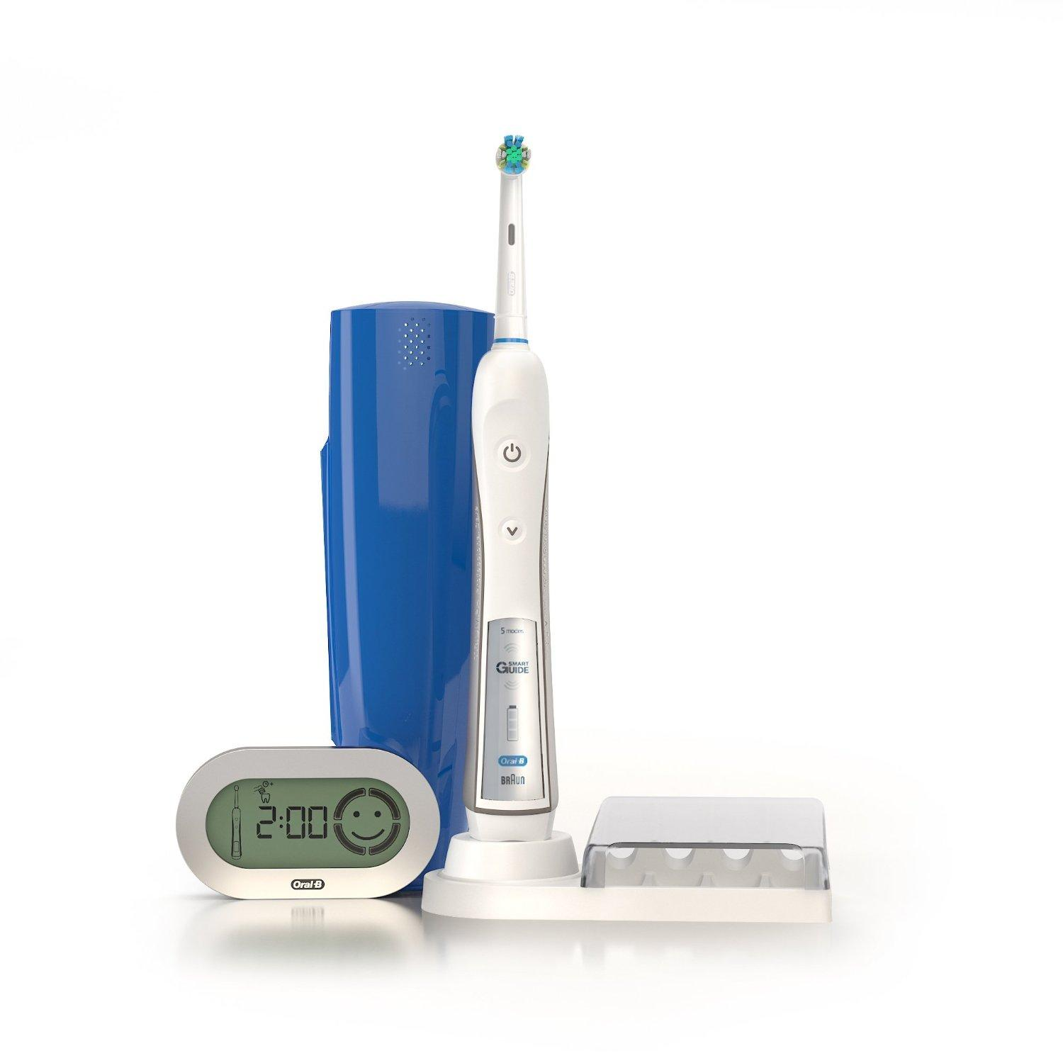 Oral-B Professional Healthy Clean + Floss Action Precision 5000 Rechargeable Electric Toothbrush