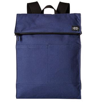 Jack Spade Bonded Cotton Fold-Top Backpack