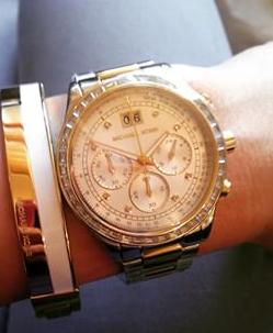 Michael Kors Golden Stainless Steel Brinkley Chronograph Watch