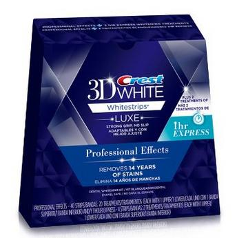 $29.99 Crest 3D White Luxe Whitestrips Professional Effects 20 Treatments + 3D White Whitestrips 1 Hour Express 2 Treatments