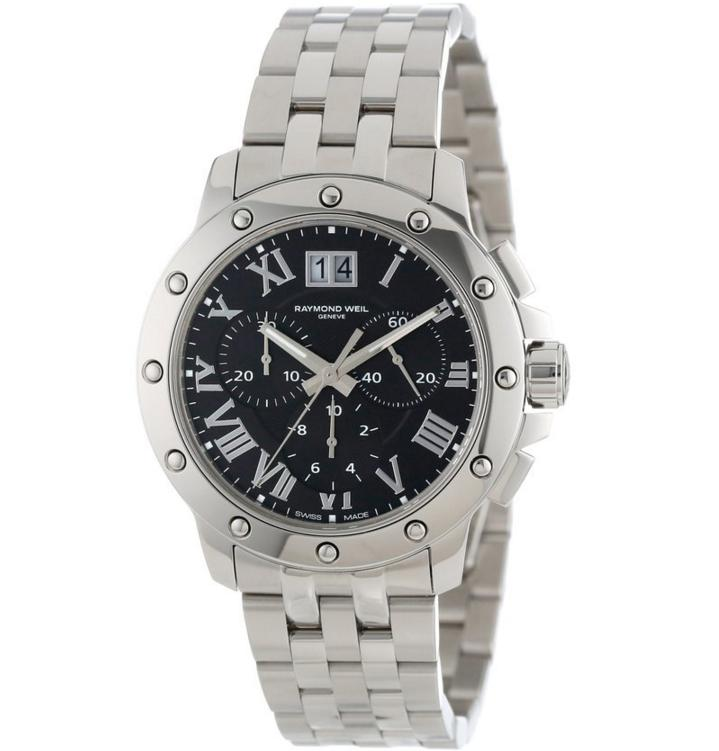 Lowest price! Raymond Weil Men's 4899-ST-00208 Tango Stainless Steel Black Chronograph Watch
