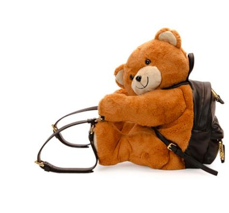 Moschino Teddy Bear Leather Backpack @ Neiman Marcus