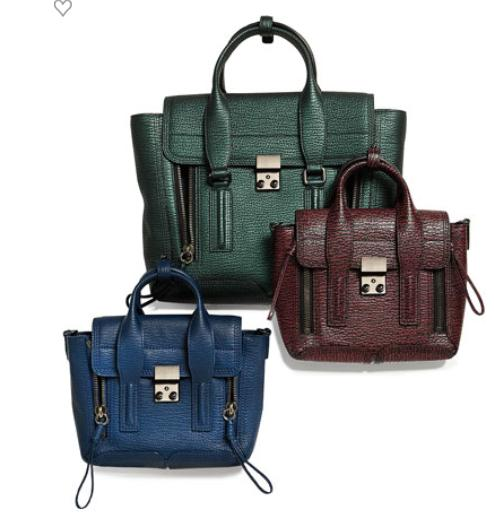 3.1 Phillip Lim Pashli Medium Satchel Bag, Ivy @ Neiman Marcus
