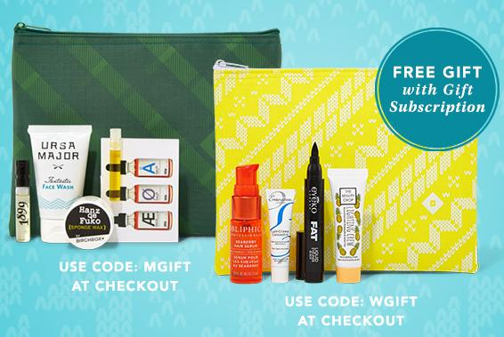 FREE Bundle of 4 Deluxe Sampleswith $60 Order  @ Birchbox