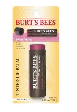 $2.83 Burt's Bees Tinted Lip Balm, Sweet Violet, 0.15 Ounce