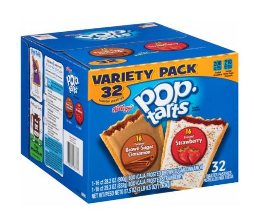 $6.33 Pop-Tarts, Variety Frosted Strawberry and Frosted Brown Sugar Cinnamon, 32 Count, 57.50 Ounce