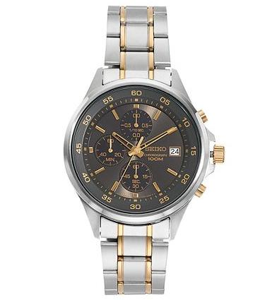 Extra 25% Off+$10 kohls cash Seiko Men's Stainless Steel Chronograph Watch@Kohl's