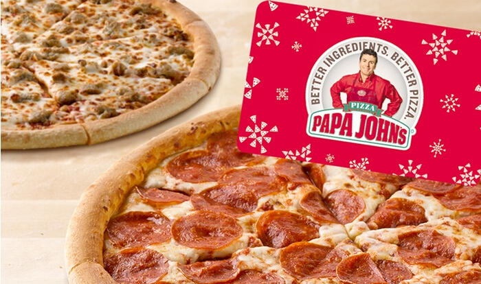 Two Free Large One-Topping Pizzas with Purchase of $25 Voucher at Papa John's ($55 Value) @ Groupon