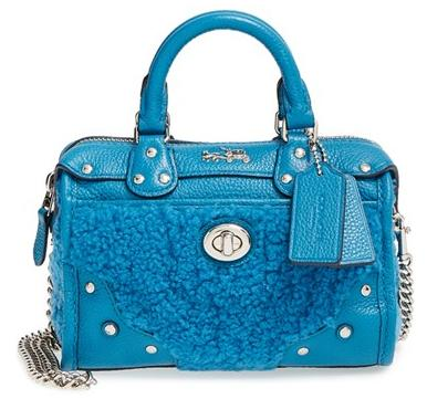COACH 'Rhyder 32' Genuine Shearling & Leather Satchel @ Nordstrom