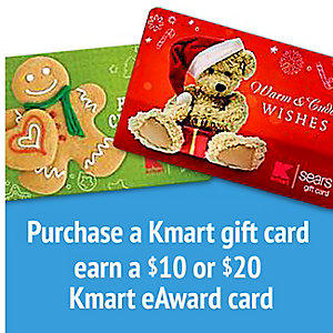 Up to $20 Kmart eAward cardwith Gift Card Purchase