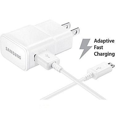 $9.99 Samsung Fast Adaptive Wall Charger + 5 FT Cable (white)