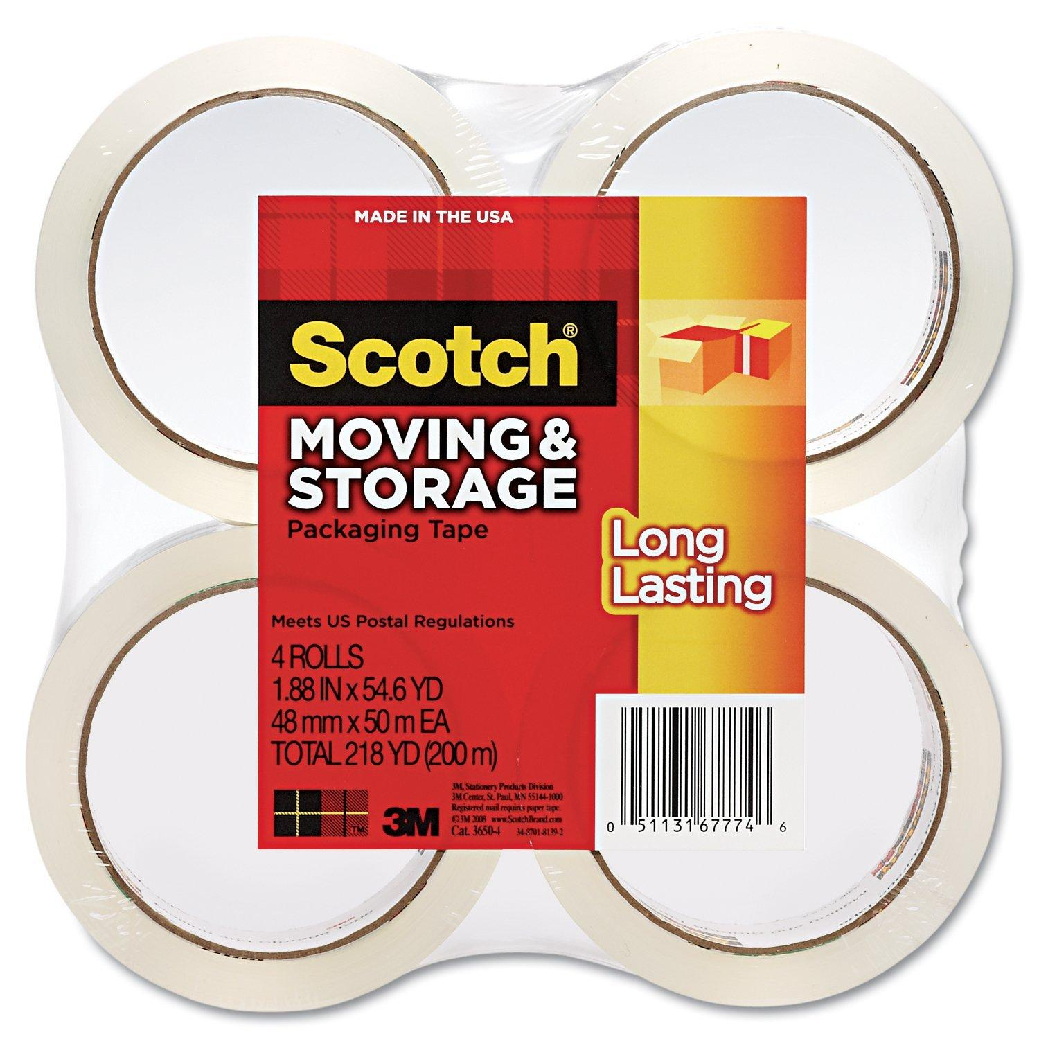 $9.14 Scotch Long Lasting Moving & Storage Packaging Tape