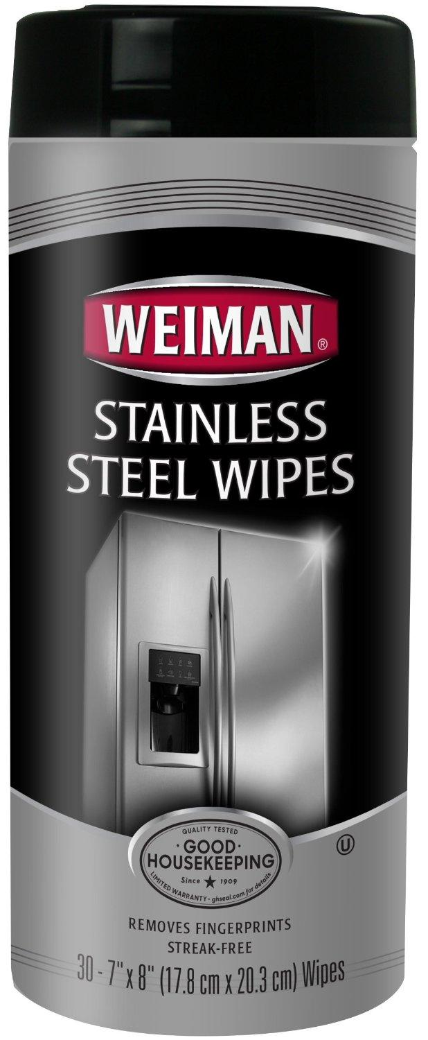 Weiman Stainless Steel Wipes, 30 count
