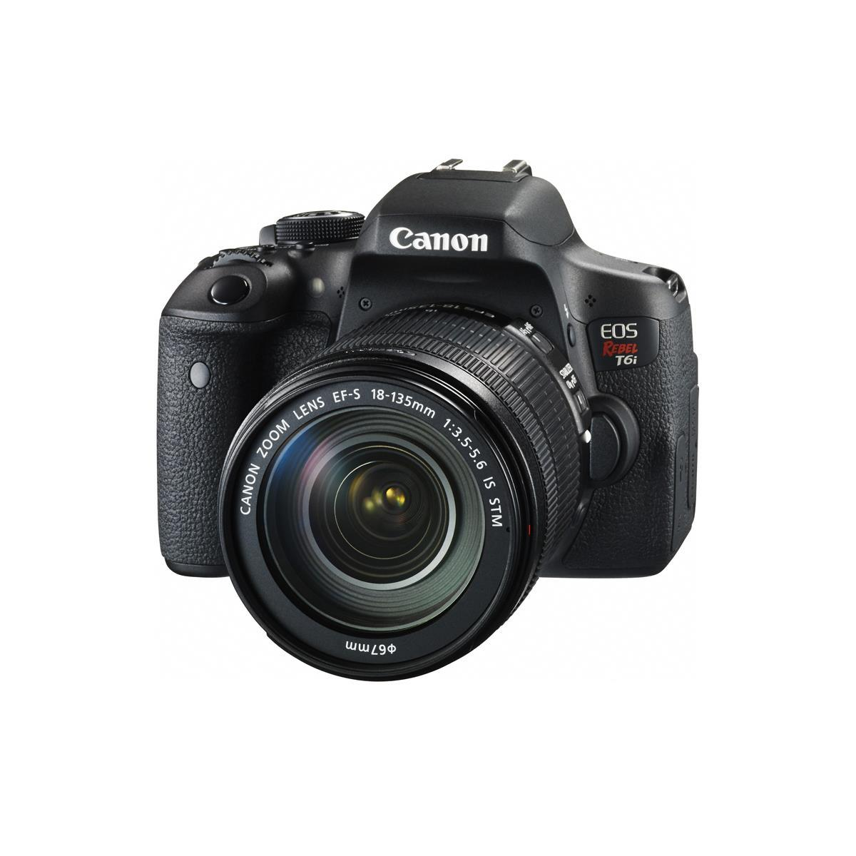 Canon EOS Rebel T6i DSLR Camera with EF-S 18-135mm f/3.5-5.6 IS STM Lens